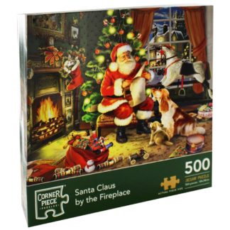 Product shot Santa Claus By The Fireplace 500 Piece Jigsaw Puzzle