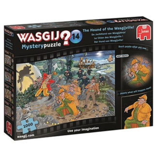 Product shot Wasgij Mystery 14 Hound Of The Wasgijville 1000 Piece Jigsaw Puzzle