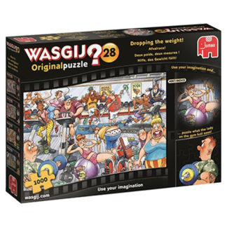 Product shot Wasgij Original 28 Dropping The Weight 1000 Piece Jigsaw Puzzle
