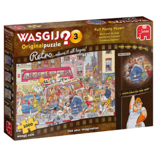 Product shot Wasgij Retro Original 3 Full Monty Fever 1000 Piece Puzzle