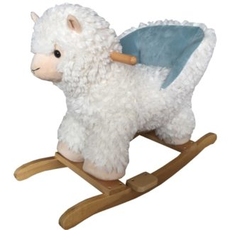 BabyLo Rocking Llama With Sound - White