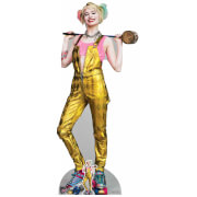 Birds of Prey Harley Quinn in Gold Jumpsuit Lifesized Cardboard Cut Out