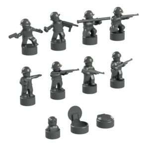 Product shot BrickMini Nano Soldiers - Dark Blueish Gray Set