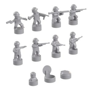 Product shot BrickMini Nano Soldiers - Light Blueish Gray Set
