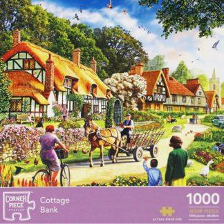 Product shot Cottage Bank 1000 Piece Jigsaw Puzzle