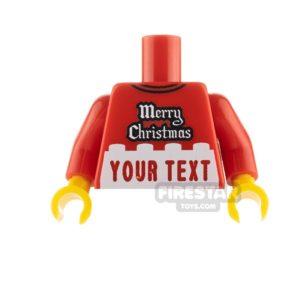 Product shot Engraved Minifigure Torso - Merry Christmas