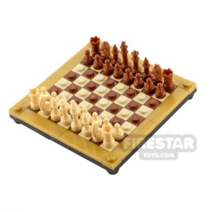 Product shot Executive Chess Board Set - Tan & Brown