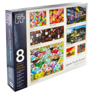 Product shot Family Jigsaw Puzzle Boxset - 8 Jigsaw Puzzles