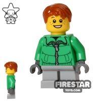 Product shot LEGO Holiday Mini Figure - Boy - Green Jacket