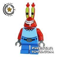 Product shot LEGO Spongebob Mini Figure - Mr Krabs Large Grin