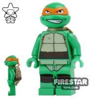 Product shot LEGO Teenage Mutant Ninja Turtles Mini Figure - Michelangelo - Grin