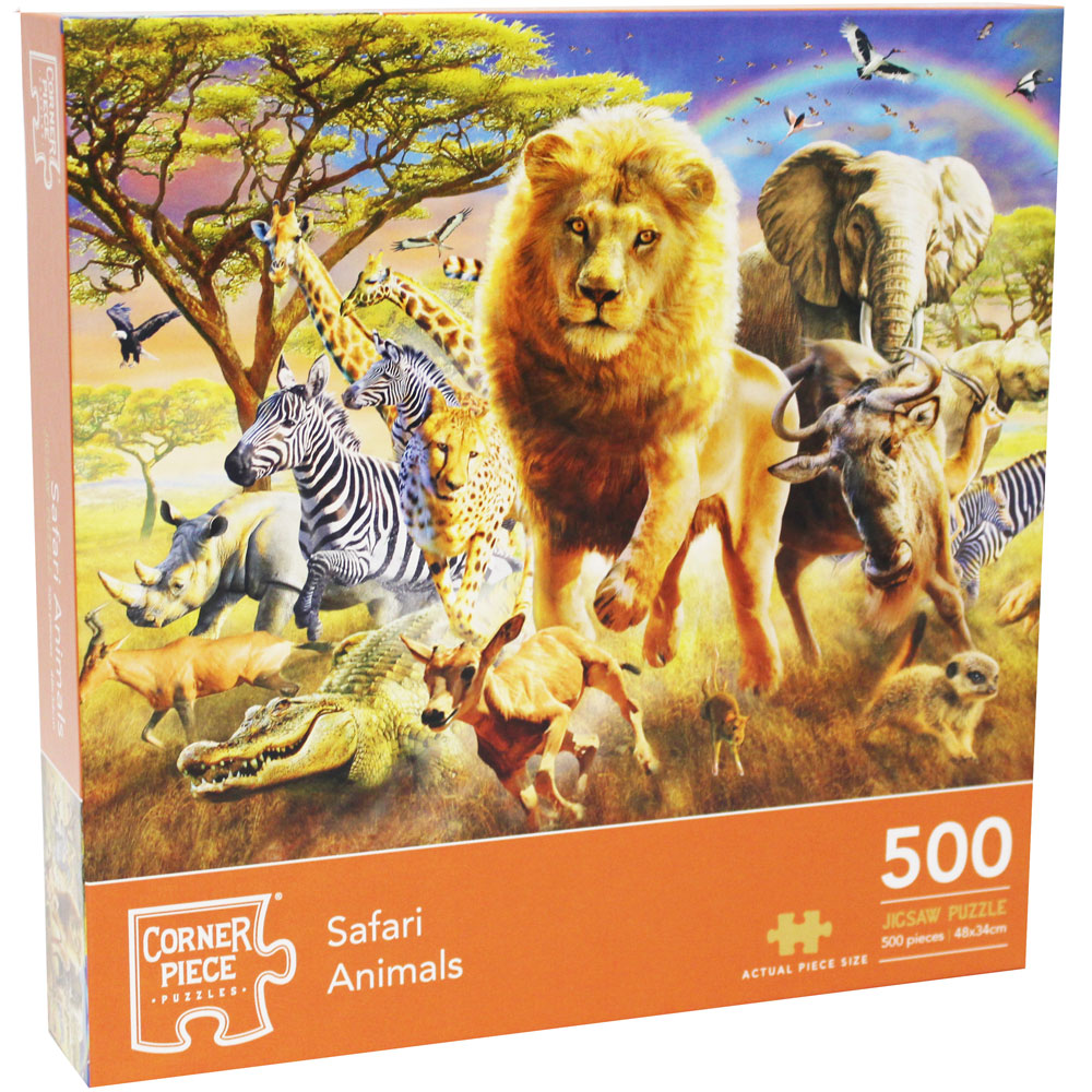 Product shot Safari Animals 500 Piece Jigsaw Puzzle