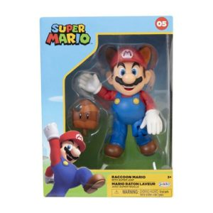 Super Mario 4 Inch Figure - Raccoon Mario With Leaf
