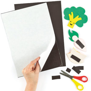 A4 Magnetic Sheets - 2 Self-adhesive Flexible Magnet Sheets that can be cut easily to any shape or size & stuck to metal surfaces