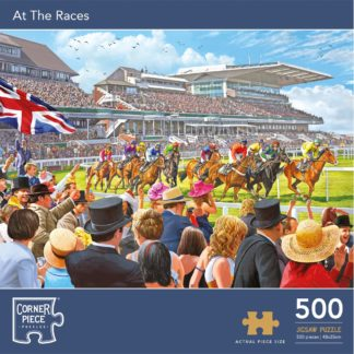 Product shot At The Races 500 Piece Jigsaw Puzzle