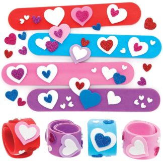 Heart Snap-on Bracelet Kits (Pack of 4)