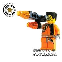 Product shot LEGO Agent Mini Figure - Fire Arm