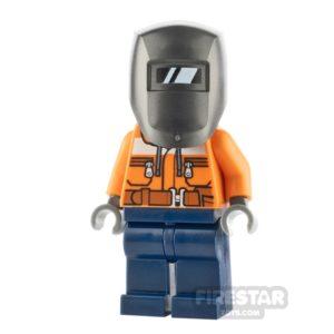 Product shot LEGO City Minfigure Construction Worker Male Welder