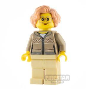 Product shot LEGO City Minfigure Grandma Fair Isle Sweater