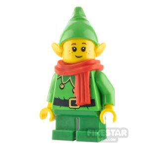 Product shot LEGO City Minifigure Elf Scalloped Collar and Freckles