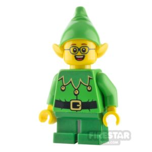 Product shot LEGO City Minifigure Elf Scalloped Collar and Glasses