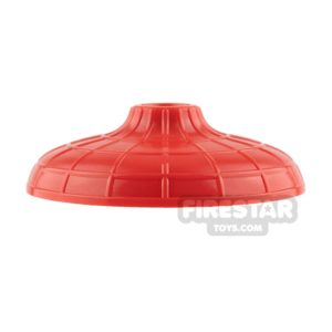 Product shot LEGO - Conical Hat with Raised Center - Red