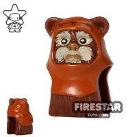 Product shot LEGO Mini Figure Heads - Ewok - Wicket