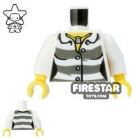 Product shot LEGO Mini Figure Torso - Female Prisoner