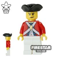 Product shot LEGO Pirate Mini Figure - Imperial Soldier II - Officer 7