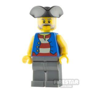 Product shot LEGO Pirate Minifigure Pirate Blue Vest