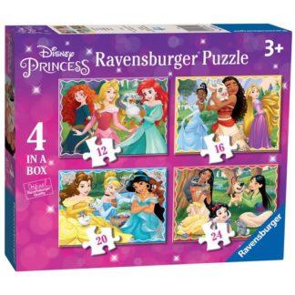 """Ravensburger Disney Princess 4 in a box (12"