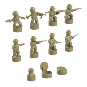Product shot BrickMini Nano Soldiers - Dark Tan Set