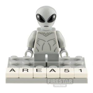 Product shot Custom Minifigure Area 51 Alien