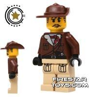 Product shot LEGO Adventurers Mini Figure - Johnny Thunder - Tan Legs