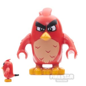 Product shot LEGO Angry Birds Mini Figure - Red - Narrow Eyes