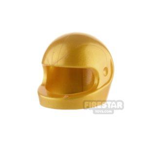 Product shot LEGO - Biker Helmet - Pearl Gold