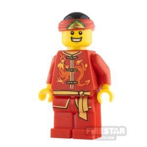 Product shot LEGO City Minifigure Dragon Dance Performer Smile