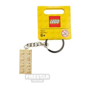 Product shot LEGO Key Chain - Classic - Chrome Gold Brick