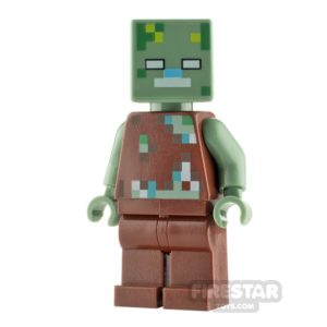 Product shot LEGO Minecraft Minifigure Drowned Zombie