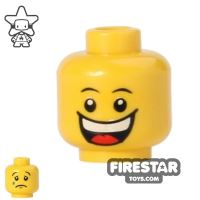 Product shot LEGO Mini Figure Heads - Big Grin