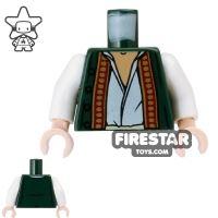 Product shot LEGO Mini Figure Torso - Pirates of the Caribbean - Green Vest
