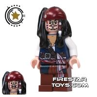 Product shot LEGO Pirates Of The Caribbean Mini Figure - Captain Jack Sparrow - Cannibal