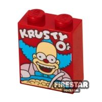Product shot Printed Brick 1x2x2 - KRUSTY O's Cereal Box