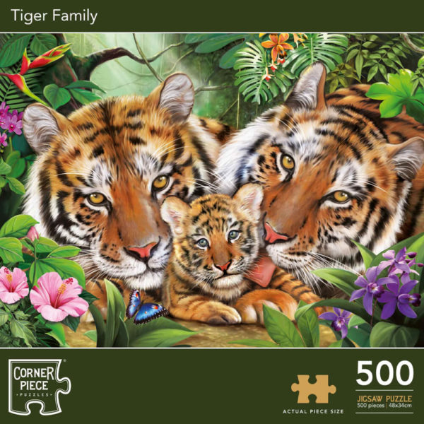 Product shot Tiger Family 500 Piece Jigsaw Puzzle