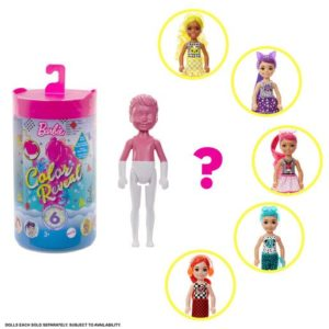 Barbie Chelsea Color Reveal Doll - Colourful Outfit Series 6 (Styles Vary)