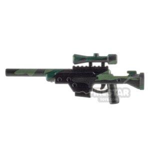 Product shot BrickTactical L96 Sniper Rifle Woodland Camo