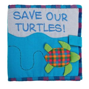 Cloth Play Book save our turtles