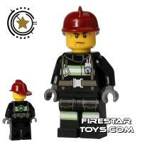 Product shot LEGO City Mini Figure – Fire - Sweat Drops