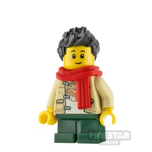 Product shot LEGO City Minifigure Boy with Monkie Kid Shirt