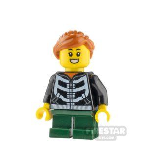 Product shot LEGO City Minifigure Girl with Skeleton Hoodie